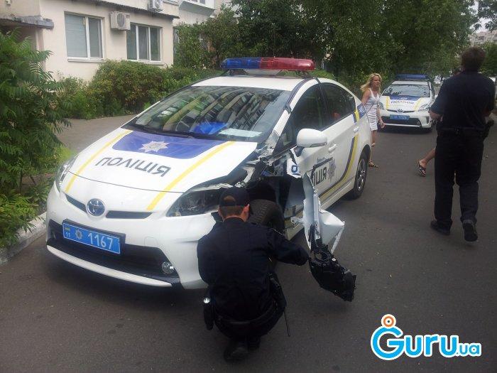 Полицейские попали в ДТП